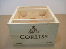 OLD WOOD-WOODEN CORLISS RED BLEND WINE CRATE BOX ADVERTISING