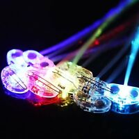 8 Pcs 14 inch LED Fiber Optic Lights up Flashing Hair Barrettes Party B-day