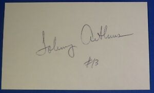JOHNNY ARTHURS autograph auto signed 3x5  Milwaukee Bucks 1969-70