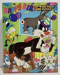 NR Vintage Tweety Sylvester Looney Tunes Birthday 100 Piece Jigsaw Puzzle SEALED