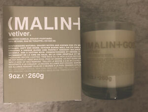 Malin+Goetz Scented Candle Vetiver Brand New 9oz With Seal