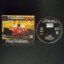FORMULA ONE 97 PlayStation UK PAL English・♔・BLOCKBUSTER EX RENTAL complete PS1