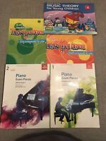 ABRSM Piano Exam 1 + 2 (2015-16 And 2017-18) , Grade 1 + 2 Plus 3 Others Books