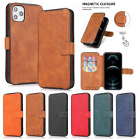 Magnetic Flip Leather Wallet Cover Case for iPhone 12 11 Pro Max Xr 8 7 6 Plus