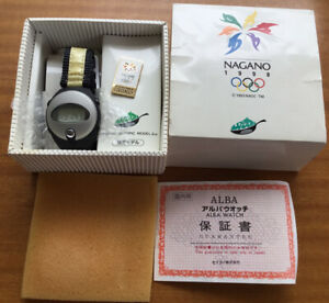 Nagano Olympics Pulsar Alba Spoon by SEIKO W620-4330 LCD Digital Watch