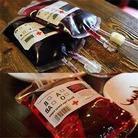 Material High Vampire Halloween Food PVC Reusable Pouch Bag Bottle Blood