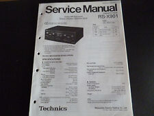 ORIGINALI service manual TECHNICS Cassette Deck rs-x901