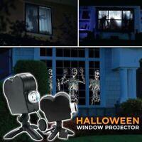 Christmas Halloween Laser Projector 12 Movies Disco Light Mini Window Home