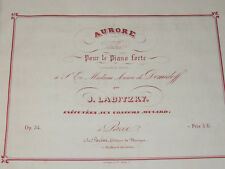 PARTITIONS XIXème  VALSES POUR PIANO J. LABITZKY  J.B. TOLBECQUE  J. LANNER