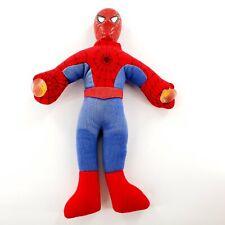 Vintage Marvel Spiderman Stuffed Plush Window Cling Suction Cups Plastic Head