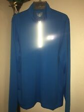 Nwot Men's Under Armour Ua 1/4 Zip Blue Fitted Athletic Running Shirt Sz Xl