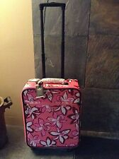 Kate Spade International carryon luggage spinner suitcase surprise coral $458 NW