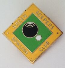 Green Keepers Bowling Club Badge Pin Vintage Lawn Bowls (L28)