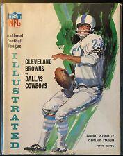 1965 Cleveland Browns vs Dallas Cowboys Football Program-Jim Brown