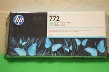 HP 772 Genuine Original  CN632a Ink 300ml  Light Cyan Date  May 2018