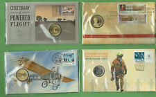 #PP.    #24.   FOUR (4)  PNC STAMPED ENVELOPES - FLIGHT, AIR MAIL, FIREFIGHTER