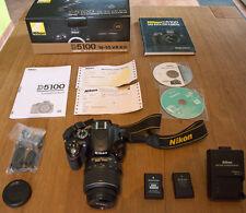 Nikon D5100 16 MP Kamera - Kit mit AF-S VR Nikkor 18-55mm Objektiv +Zubehörpaket