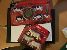 More details for britain's animal sets x 2 cattle feeder set & charlais cows brilliant, farmer &