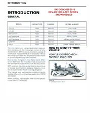 2009 2010 Ski-Doo REV XR REV-XR 1200 series GTE GTX GSX MXZ 4-TEC service manual