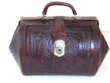Antique Tooled Leather  Doctor's Bag