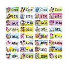 120 MICKEY & FRIENDS Waterproof Name Labels-SCHOOL,NURSERY(Buy 5 get 1 FREE)