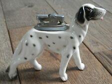 Vintage Porcelain Pointer Hunting Dog Cigarette Table Lighter Japan