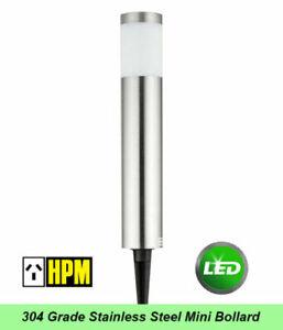 HPM 304 Stainless Steel Mini Garden Bollard Light 1W LED 12V DIY - The Cacto