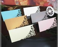 Card Wedding Party Decoration Invitations Table Name Place Cards Laser Cut 50Pcs
