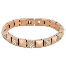Michael Kors Heritage Pyramid Rose Gold Tennis Bracelet mkj4005791 MSRP $145
