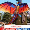 HOT 3D Dragon Kite Single Line With Tail Family Outdoor Sports Toy Children Kids