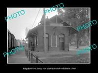 OLD LARGE HISTORIC PHOTO OF RIDGEFIELD NEW JERSEY, ERIE RAILROAD STATION c1910