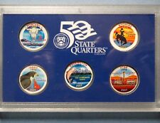 "**COLORIZED 2007 STATE QUARTERS, LOT of (5) UNCIRCULATED ""Work of Art"" COINS"