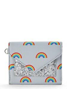 NEW No Boundaries Jordyn Envelope Wallet - Gray, Rainbow, Glitter, Pride