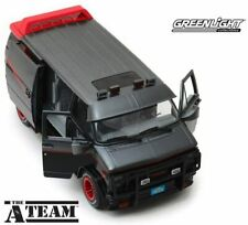 Greenlight 13521 The A Team 1983 Gmc Vandura 1/18 Diecast Model Van Black Grey