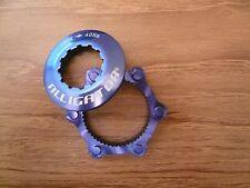 Alligator DISC Rotor Center-Lock Centerlock Adapter Adaptor, Blue for Shimano
