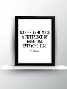 The Greatest Showman Quote Poster Print Wall Art Decor Musical Film Movie Gift