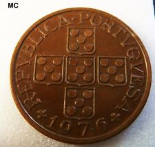1976 Portugal Copper 1 Escudo Coin in Extremely Fine