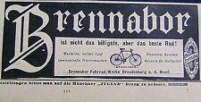 BRENNABOR ist nicht das billigste, aber das beste Rad Brandenburg Reklame 1904