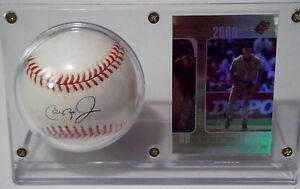 CAL RIPKEN JR Signed Rawlings OMLB Commemorative 8 Baseball Card Display STEINER