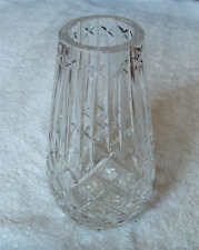 Waterford Ireland vintage cut glass Araglin pattern tall vase~Pristine-NR