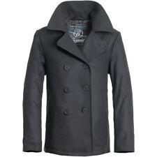 Brandit Cappotto Giacca giaccone Uomo Doppiopetto Pea Coat Jacket L  Anthracite ea0079a4343