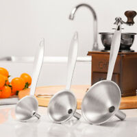 3pcs/Set Home Kitchen Mini Stainless Steel Funnel For All Kinds Of Hip Flasks US