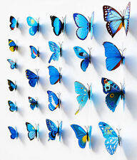 12 Pcs 3D Butterfly Art Design Decal Wall Stickers Home Decor Room Decorations