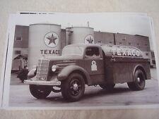 1937 MACK TEXACO TANKER TRUCK  11 X 17  PHOTO   PICTURE