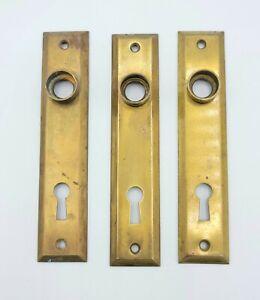 "Vintage Screen Storm Door Backplate Pressed Steel 5"" x 1"" SINGLE Holes are 2 ½"""