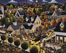 "Dowdle Folk Art 500 Piece Puzzle All Hallow's Eve 16""x20"" Finished Sz Halloween"