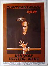 Der Wolf hetzt die Meute TIGHTROPE - Clint Eastwood Filmplakat DIN A0 (gerollt)