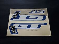 VINTAGE ORIGINAL GT FREESTYLE BMX FORK DECAL SET (BLUE) OLD SCHOOL 1990'S - NOS