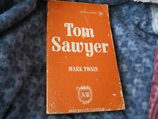 """TOM SAWYER"", by MARK TWAIN AWARD BOOKS ORANGE PAPERBACK BEST SELLER CLASSICS"
