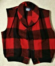 RARE Vintage 80s WOOLRICH Mackinaw Buffalo Plaid Vest Jacket Womens Size S M
